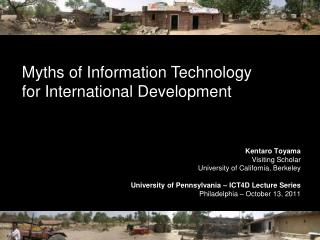 Myths of Information Technology  for International Development