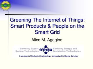 Greening The Internet of Things: Smart  Products & People on the Smart  Grid