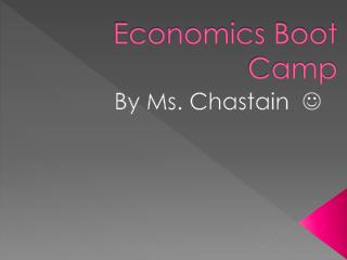Economics Boot Camp