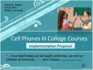 Cell Phones in College Courses
