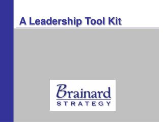 a leadership tool kit
