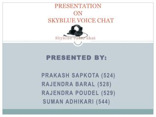 Presentation  on     skyBlue Voice Chat