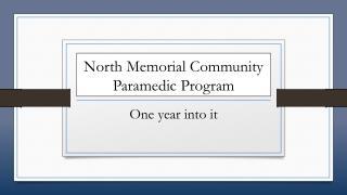 North Memorial Community Paramedic Program