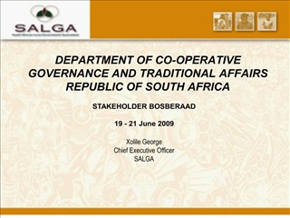department of co-operative governance and traditional affairs republic of south africa