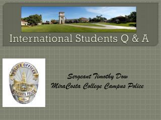 International Students Q & A
