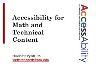 Accessibility for Math and Technical Content