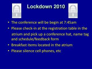 Lockdown  2010