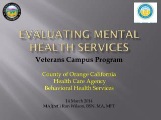 Evaluating Mental Health Services