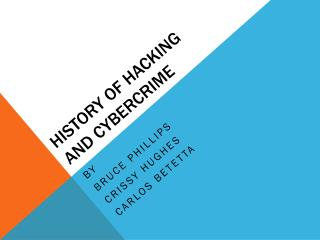 History of Hacking and Cybercrime