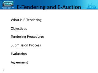 E-Tendering and E-Auction