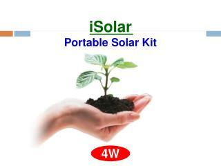 iSolar  Portable Solar Kit