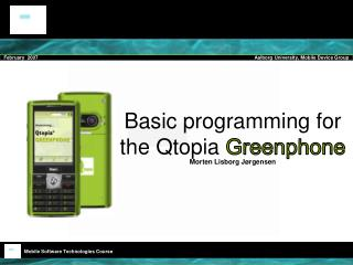 Basic programming for the Qtopia Greenphone