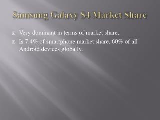 Samsung Galaxy S4 Market Share