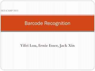 Barcode Recognition
