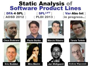 Static  Analysis  of Software Product Lines