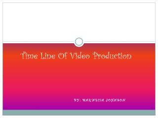 Time Line Of Video Production