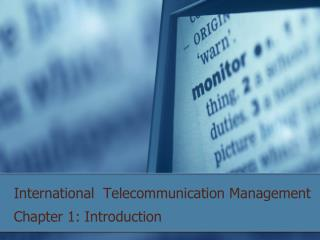 International  Telecommunication Management