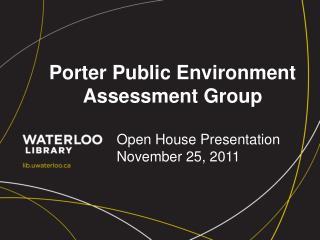 Porter Public Environment Assessment Group