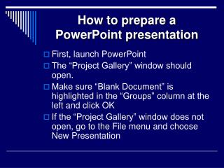 how to prepare a powerpoint presentation