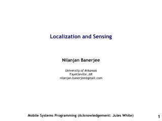 Localization and Sensing