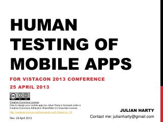 Human testing of mobile apps