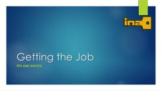 Getting the  Job