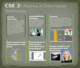 CSE 3:  Fluency in Information Technology        	 by Jae Hoon Song  Lab A51