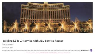 Building L2 & L3 service with ALU Service Router