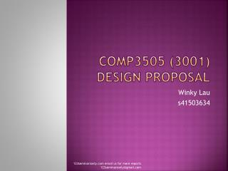 COMP3505 (3001) Design Proposal