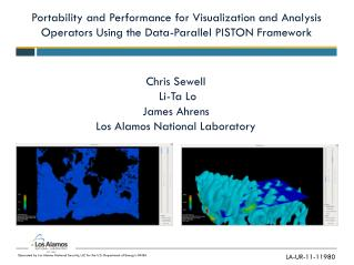 Portability and Performance for Visualization and Analysis Operators Using the Data-Parallel PISTON Framework