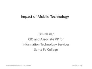 Impact of Mobile Technology