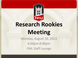 Research Rookies  Meeting