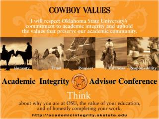 Academic  Integrity          Advisor Conference