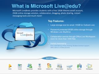 What is Microsoft Live@edu?