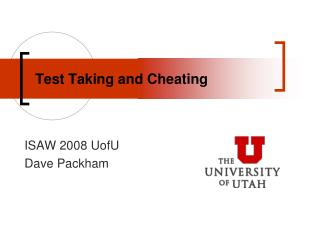 Test Taking and Cheating