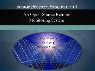 Senior Project: Presentation 1