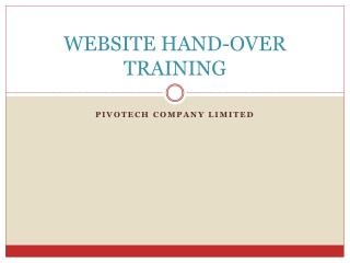 WEBSITE HAND-OVER TRAINING