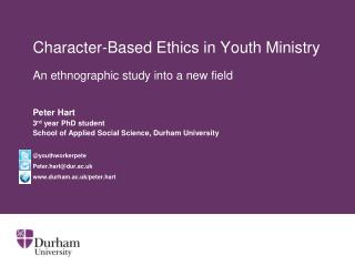 Character-Based Ethics in Youth Ministry