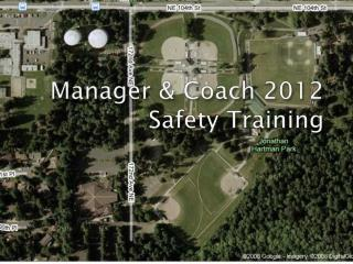 Manager & Coach 2012  Safety Training