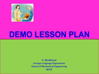 DEMO LESSON PLAN
