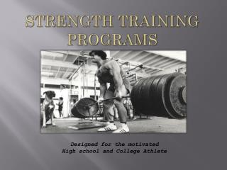Strength Training Programs