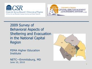 2009 Survey of Behavioral Aspects of Sheltering and Evacuation in the National Capital  Region