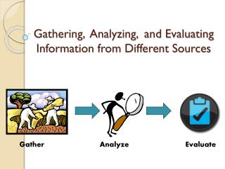 Gathering,  Analyzing,  and Evaluating Information from Different Sources
