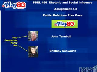 PBRL 450  Rhetoric and Social Influence         Assignment 4-2 Public Relations Plan Case NFL Play 60