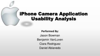iPhone Camera Application Usability Analysis