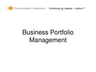 Forretning og Ledelse – Lektion 7
