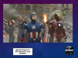 Special Topics in Film Studies: Joss  Whedon