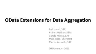 OData Extensions for Data Aggregation