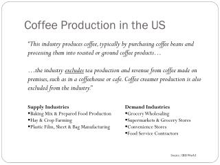 Coffee Production in the US