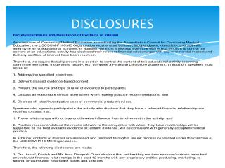 DISCLOSURES